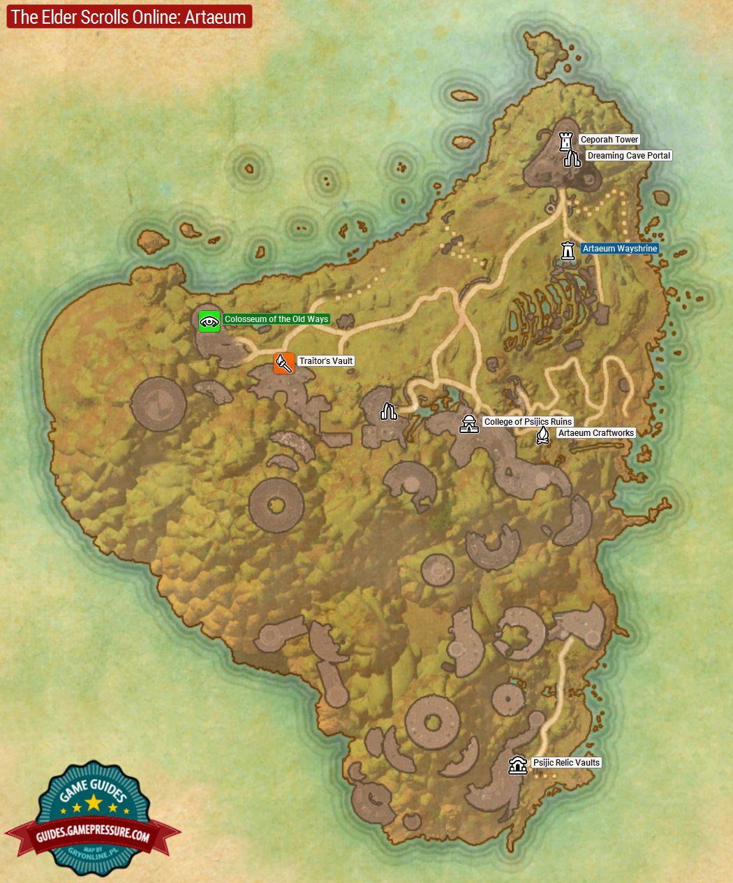 Khenarthi's Roost Map : khenarthi's, roost, Artaeum, Elder, Scrolls, Online, Guide, Gamepressure.com