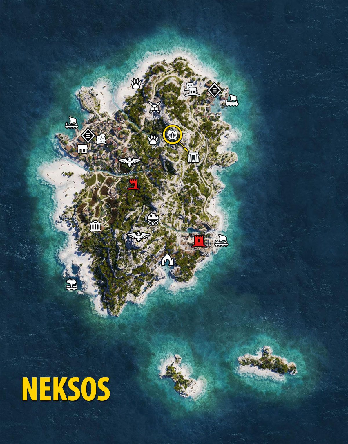 Ac Odyssey Interactive Map : odyssey, interactive, Odyssey:, Naxos, Tombs,, Ostracons,, Documents,, Secrets, Assassin's, Creed, Odyssey, Guide, Gamepressure.com