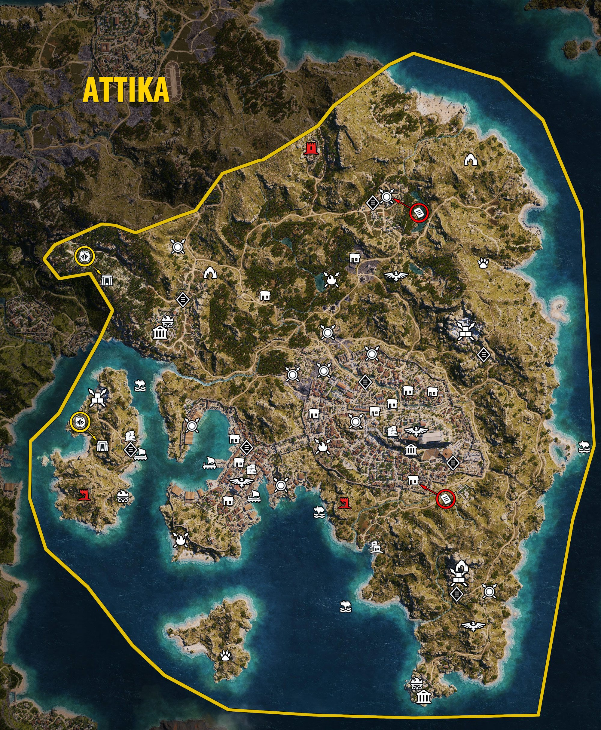 Check out the full world map for Assassin's Creed: Odyssey