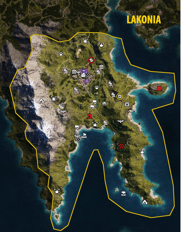 Ac Odyssey Interactive Map : odyssey, interactive, Assassins, Creed, Odyssey, Interactive, World, Atlas