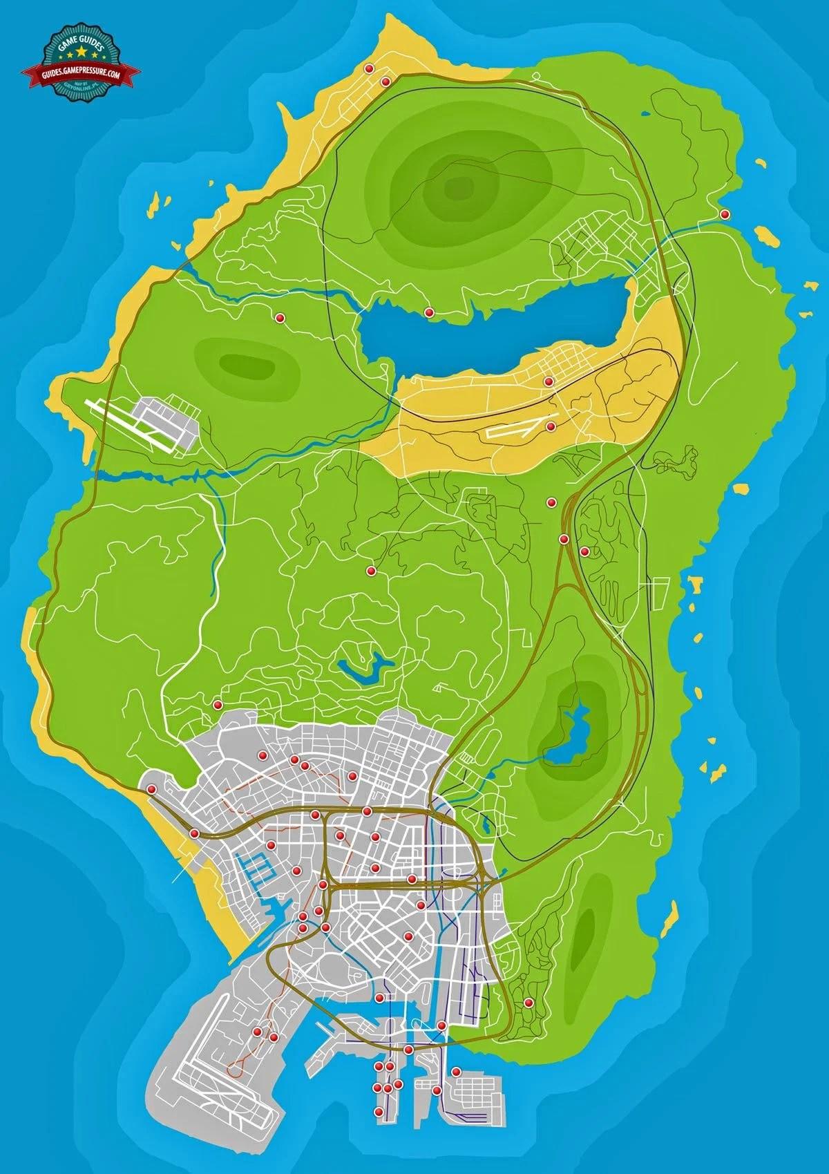 36-50 - Stunt Jumps - Side Activities   Grand Theft Auto V