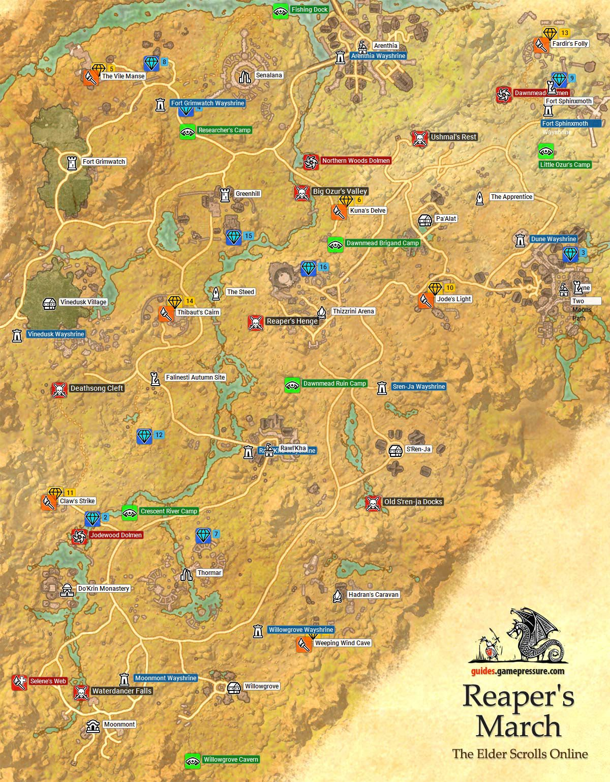 Eso Vvardenfell Treasure Map 4 : vvardenfell, treasure, Reapers, March, Treasure, Location, Catalog, Online