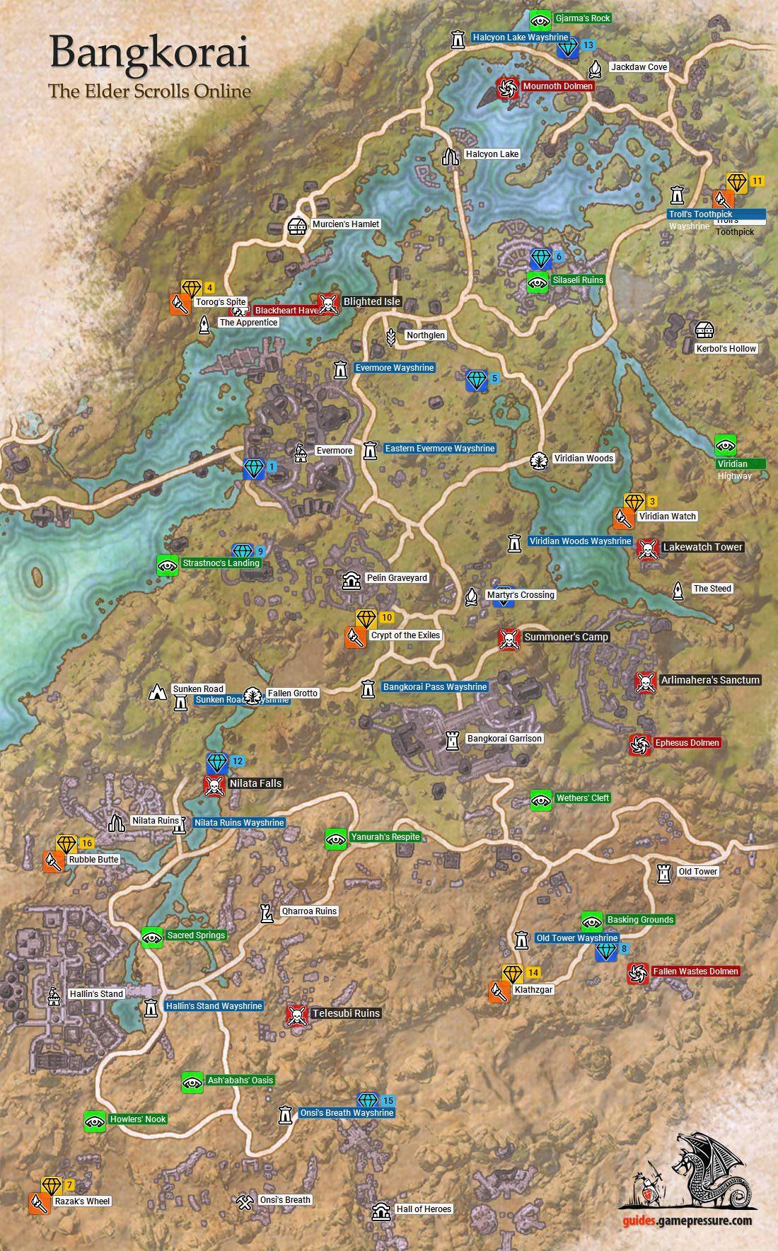 Reaper's March Map : reaper's, march, Bangkorai, Daggerfall, Covenant, Elder, Scrolls, Online, Guide, Gamepressure.com