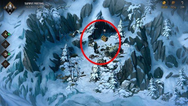Первое сокровище в Махакаме находится прямо возле начальной точки - Скрытые сокровища сундуков в Махакаме |  Thronebreaker The Witcher Tales - Карты скрытых сокровищ - Тронно-разбойник The Witcher Tales Guide