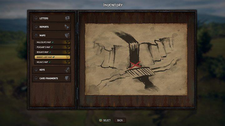 Это сокровище можно найти благодаря карте, отобранной из побежденных бандитов - Скрытые сокровища сундуков в Лирии | Thronebreaker The Witcher Tales - Карты скрытых сокровищ - Тронно-разбойник The Witcher Tales Guide