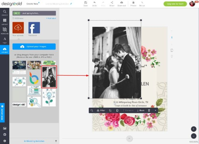 Own Images And Add Design Elements