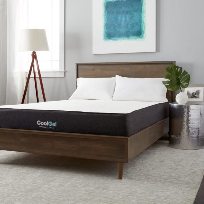 Wood Bed With Memory Foam Mattress