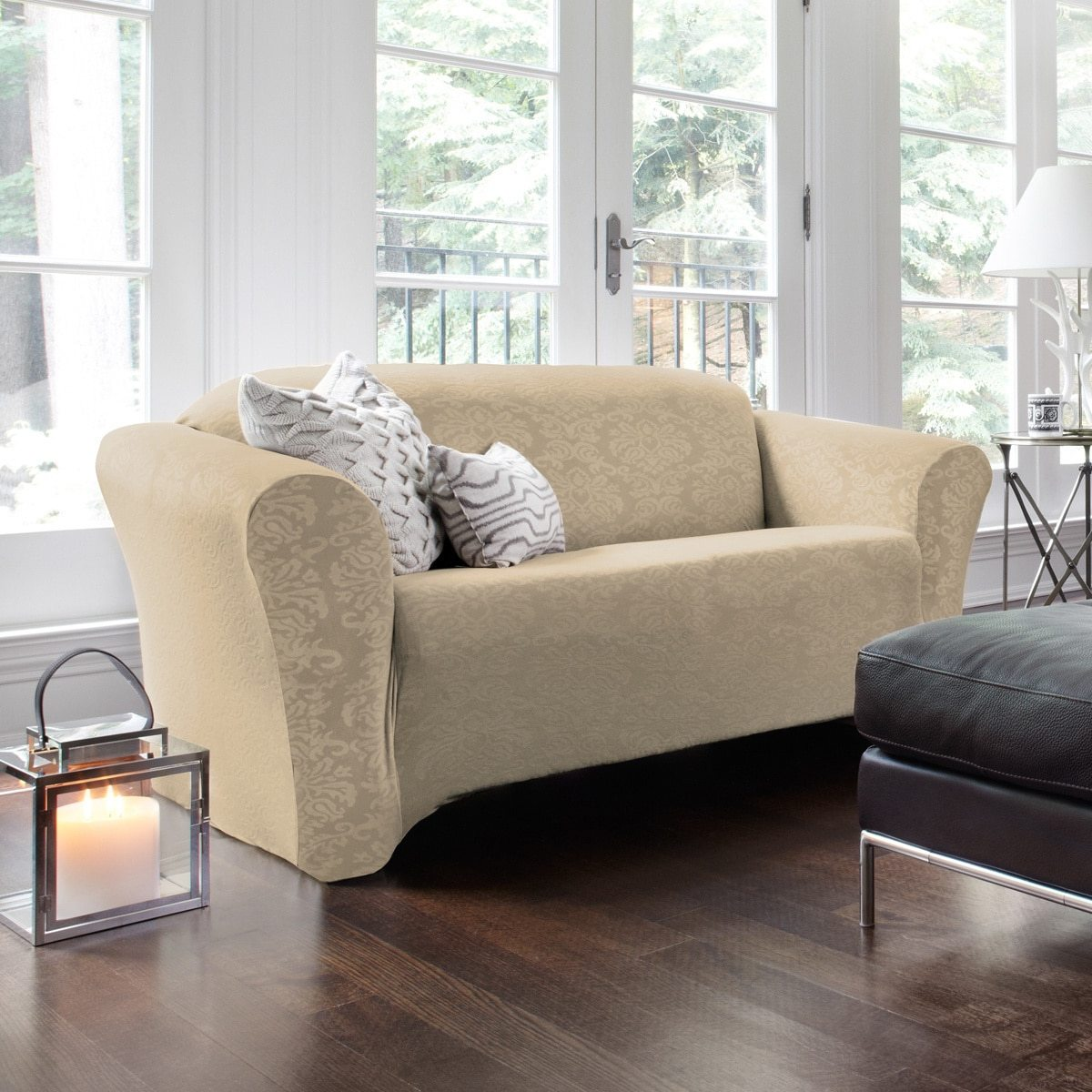 overstock sofa covers set singapore 5 steps to choosing a durable slipcover