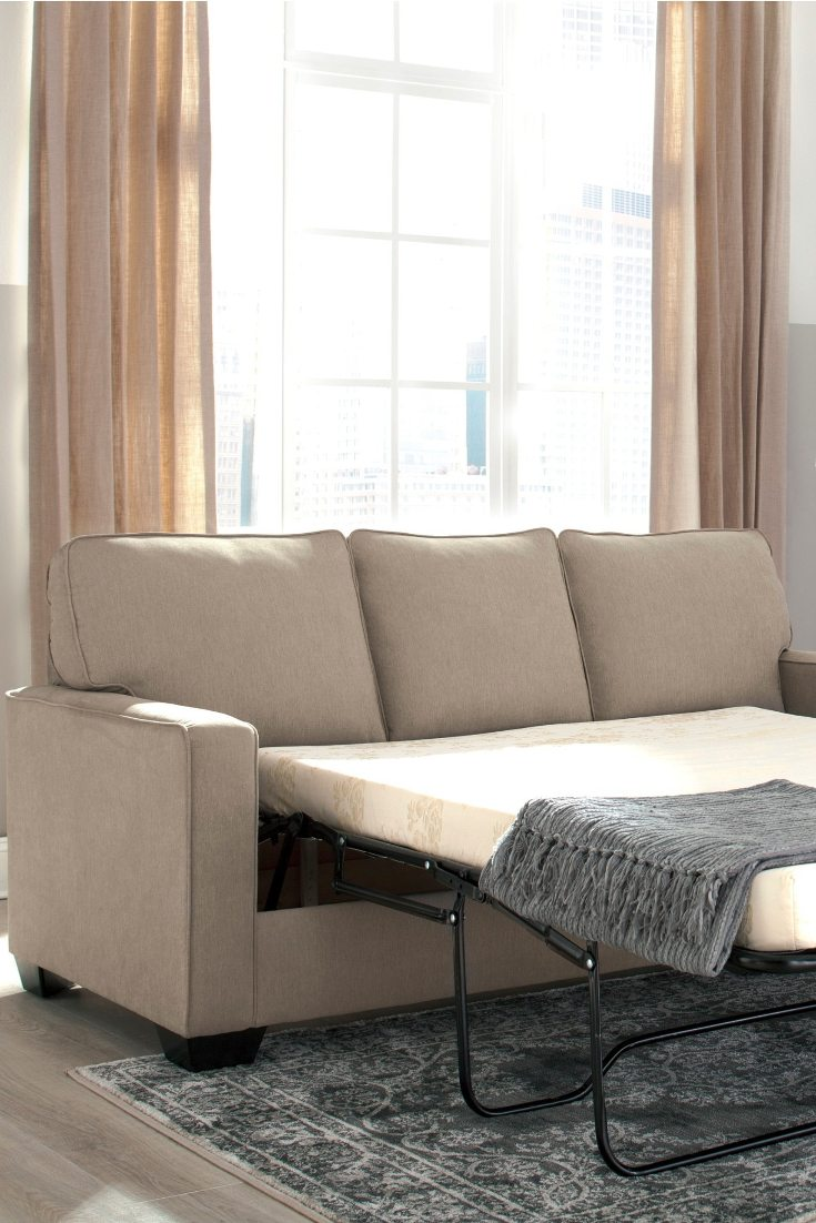 comfortable cheap sleeper sofa modern tan leather how to make a pull out bed more overstock com
