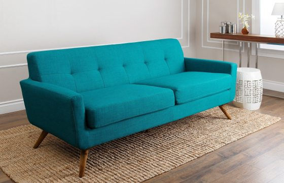 bohemian sofa bed pottery barn grand slipcovers boho chic furniture decor ideas you ll love overstock com a bright turquoise