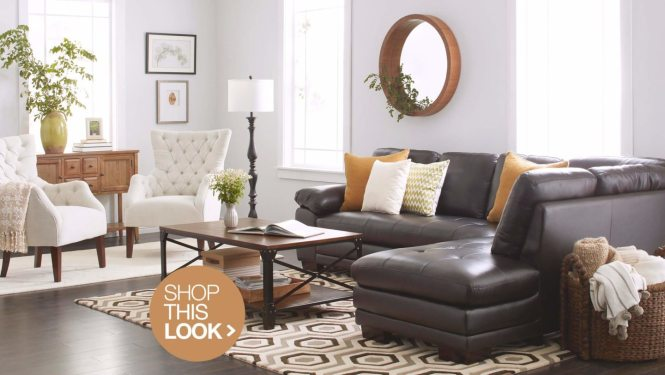 Navy Blue Upholstery And Beige Dries Room Decor A Rich Brown
