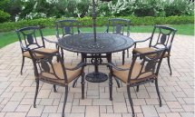 clean wrought-iron patio