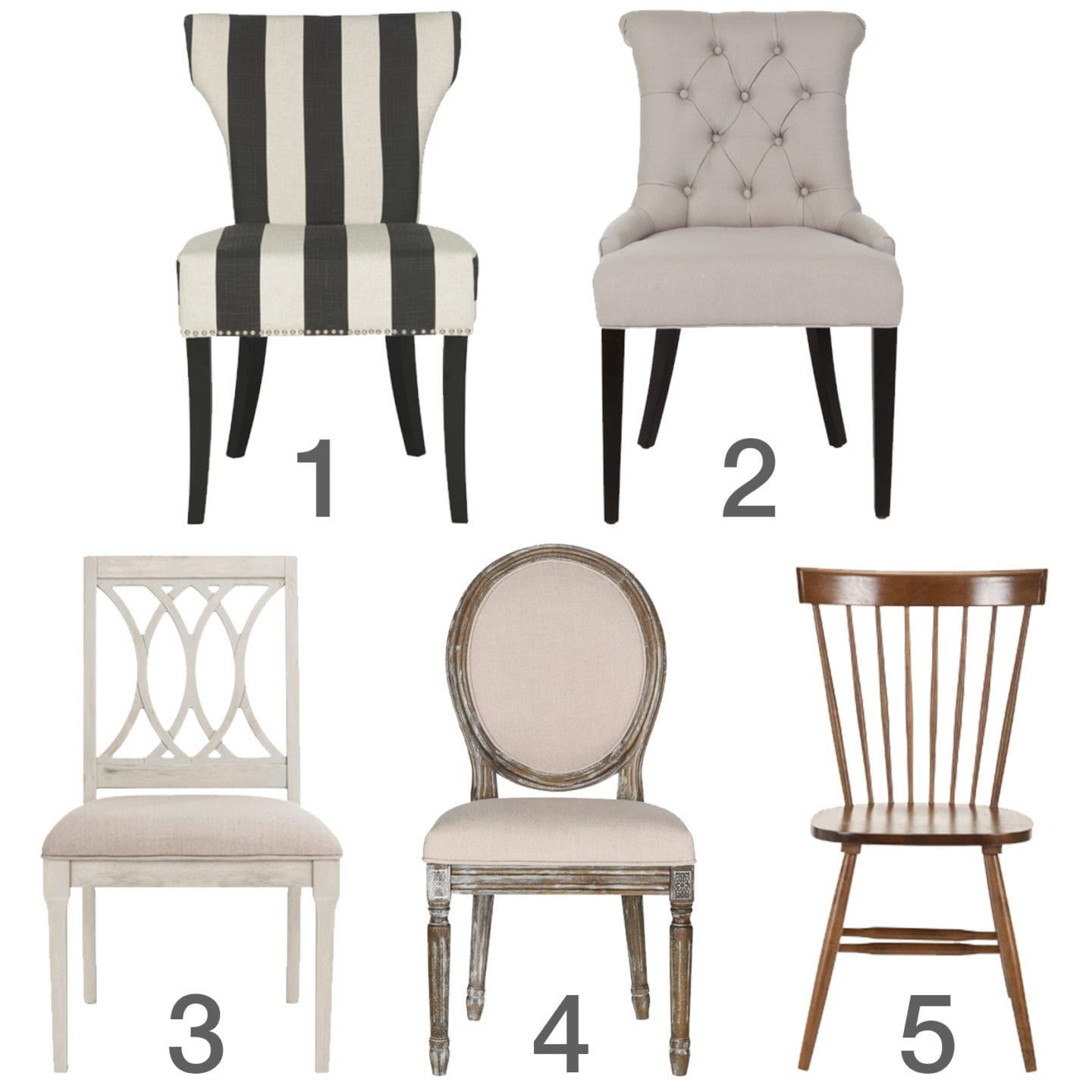 dining chair styles lee industries chairs swivel room ideas
