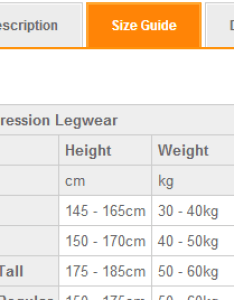 xu sizing chart also compression clothing guide wiggle guides rh