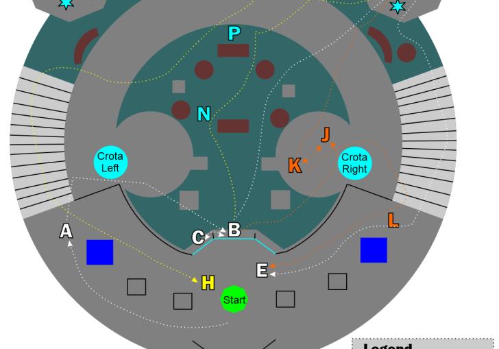 Destiny Map Of Lamps In Crota Raid