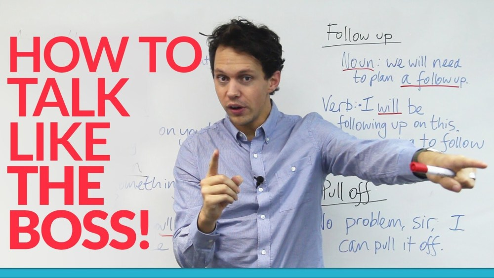 How to Improve english guide talk like the boss