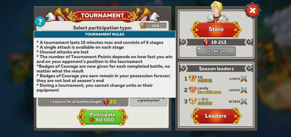 Hustle Castle Arena Guide Tournament Rules
