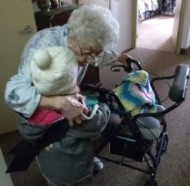 Victoria with a senior of 104 years old!