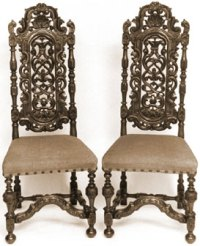 Antique William and Mary Dining Chairs   Home, Furniture ...