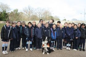 22.02.19. Diesel from Berkshire Lowland Search & Rescue was a popular visitor amongst the LVS Ascot Infants & Juniors