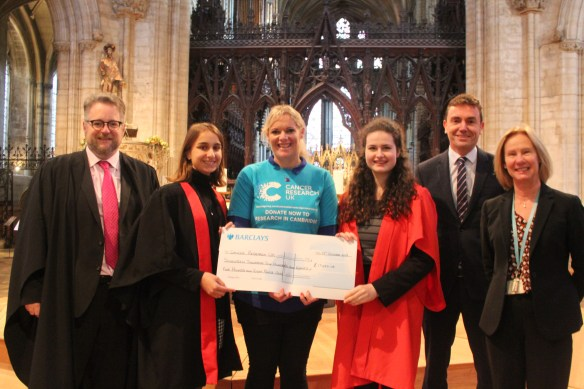CRUK Cheque Presentation October 2019