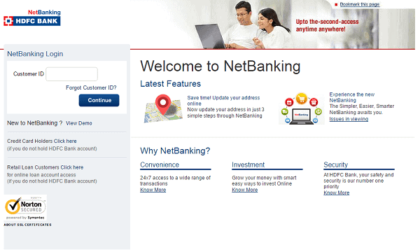Hdfc Netbanking Login Guide At Netbanking Hdfcbank