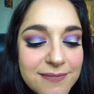 purple eyeshadow step by step tutorial. buxom colourpop too faced l'oreal makeupgeek beauty blogger pinterest