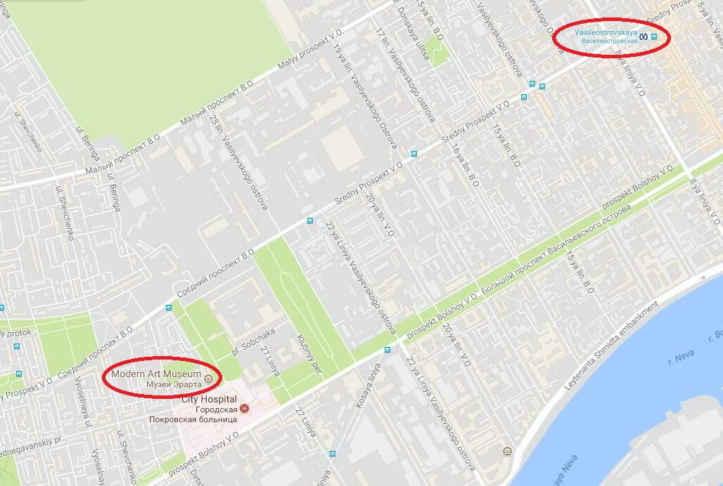 Erarta on map