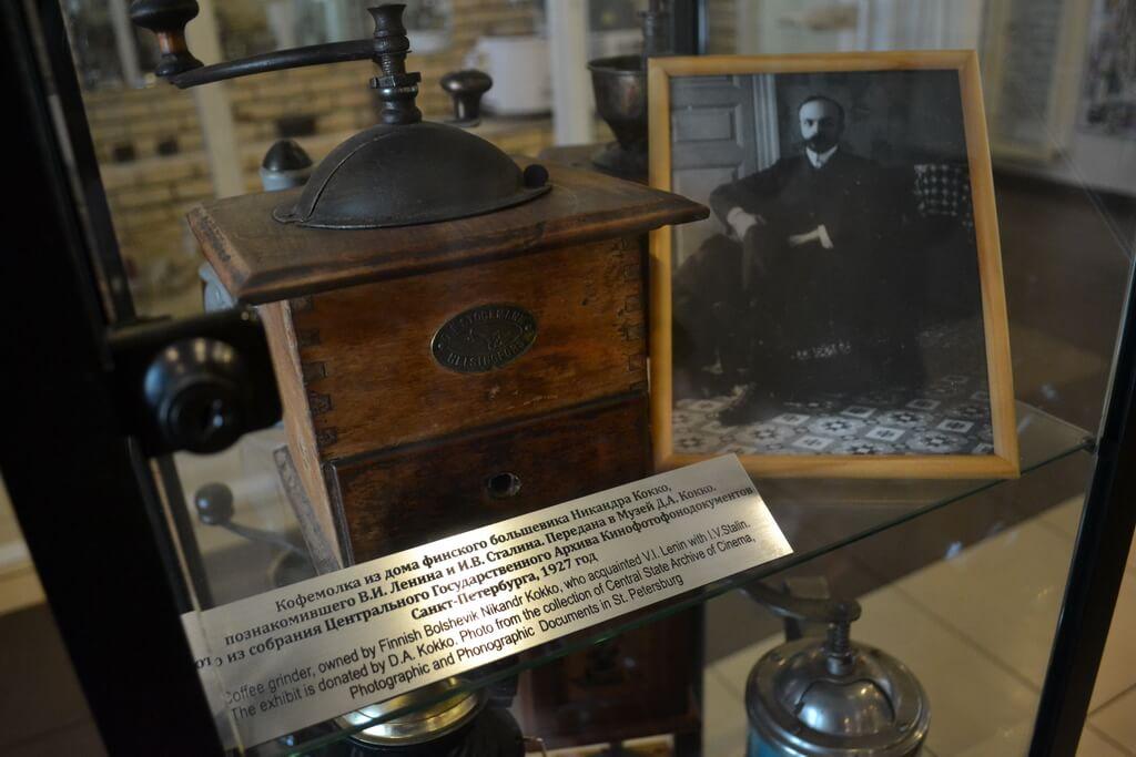 Coffee grinder owned by Finnish Bolshevik Nikandr Kokko, who acquainted Vladimir Lenin with Josef Stalin