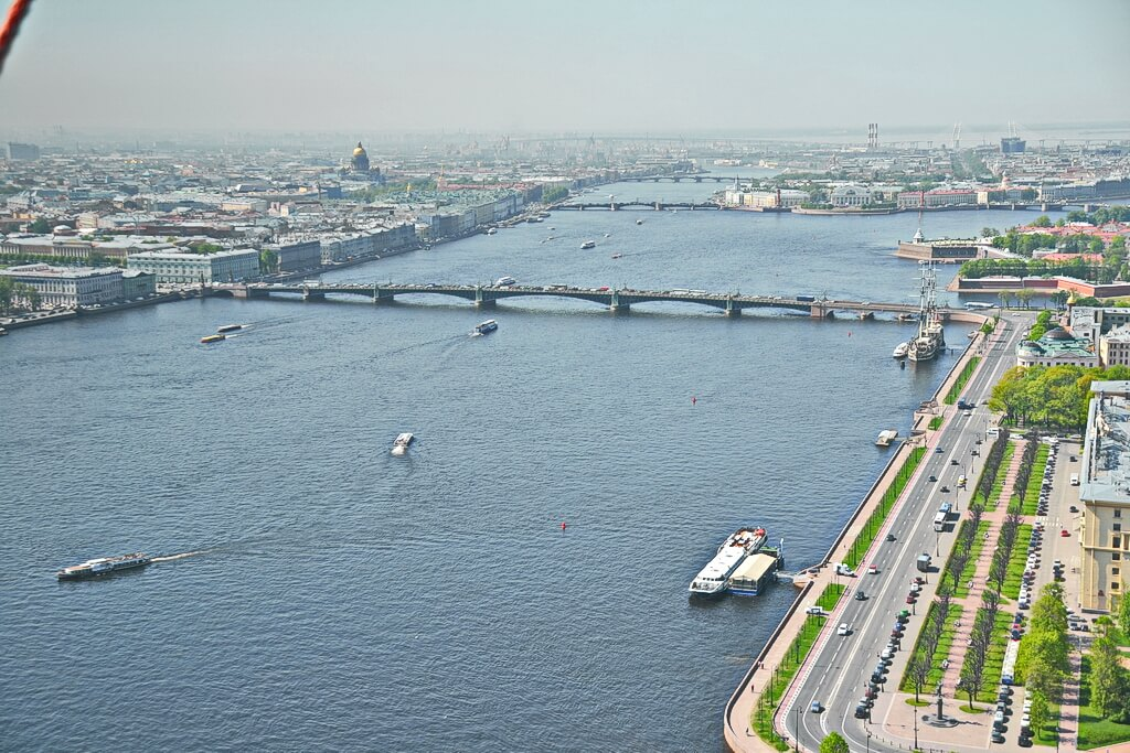 The Neva and the most visited tourist places