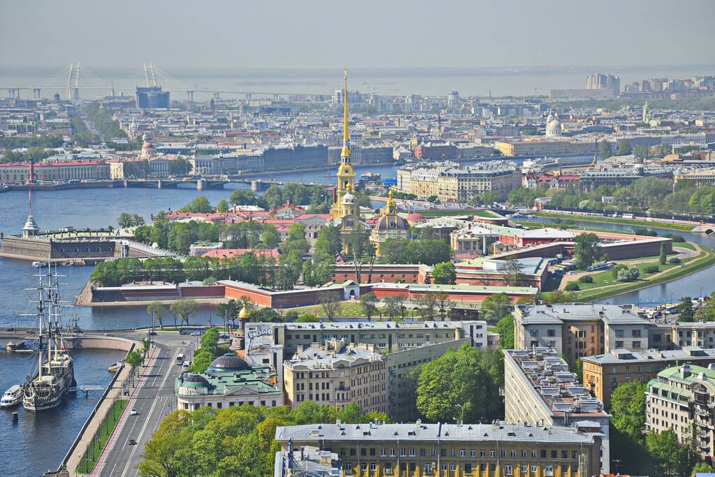 View of the Peter and Paul Fortress