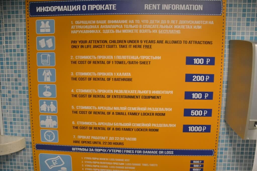 Rent price