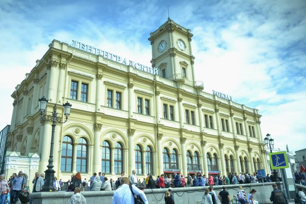 The Leningrasky vokzal railway station