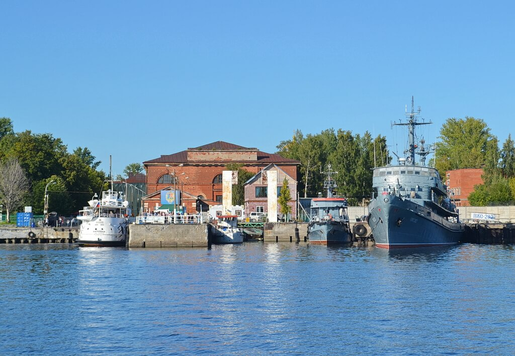 the marina of Kronstadt