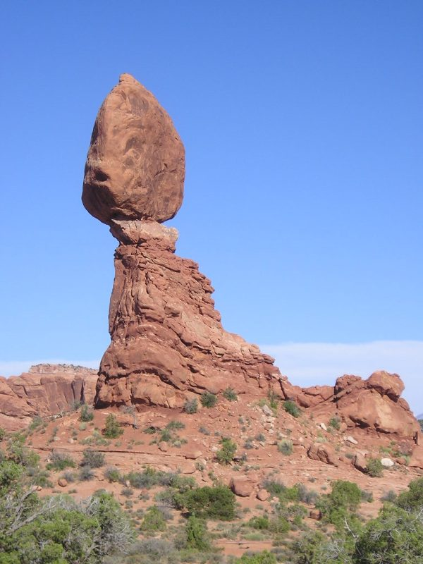 "Balanced Rock, Arches National Park, Utah 38° 42' 03.40"" N, 109° 33' 52.30"" W"