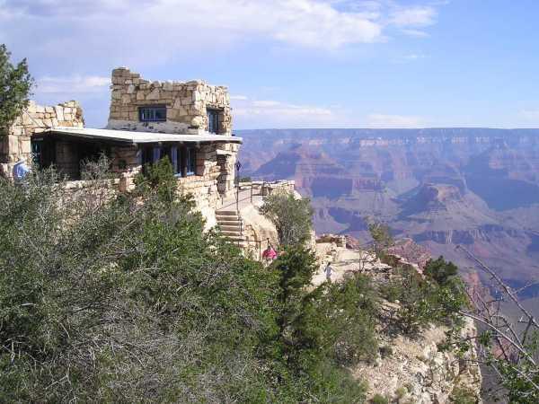 """Lookout Studio, South Rim, Grand Canyon National Park, AZ 360 03' 28.30"""" N, 1120 08' 28.70"""" W"""