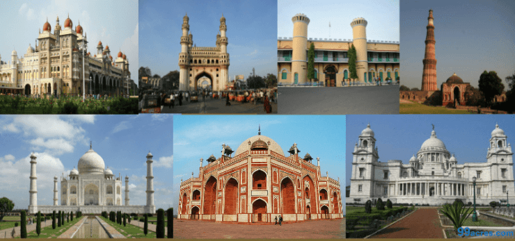 Heritage places in India