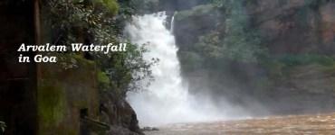 Arvalem Waterfall in Goa