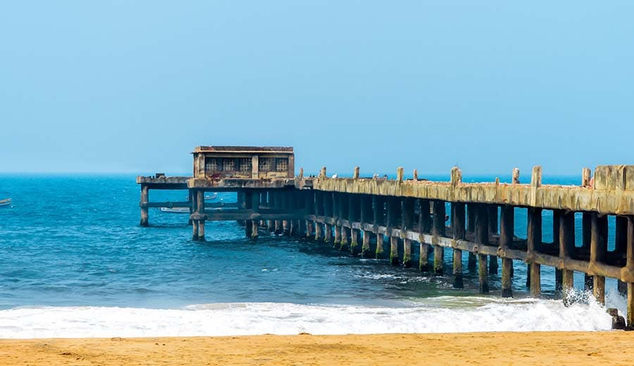 Valiyathura Pier- a fishing port in Kerala