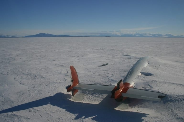 The remains of the Pegasus in McMurdo Sound