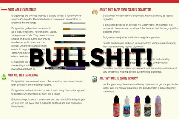bullshit ecig brochure