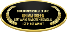 1st Place - Best Vaping Advocate - Individual - Grimm Green