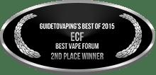 2nd Place - Best Vape Forum - ECF