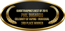 3rd Place - Celebrity of Vaping - Individual - Phil Busardo