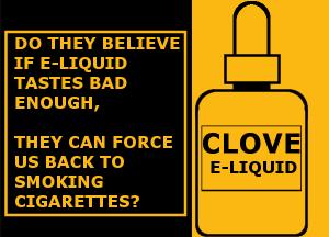 why ban flavors in e-liquids: cloves