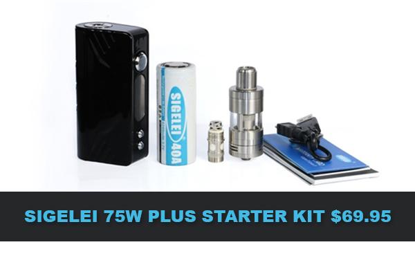 sigelei 75w starter kit deal
