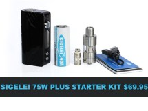 sigelei 75w starter kit deal