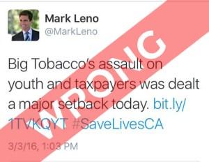 CALIFORNIA SHAFTS VAPERS:mark leno twitter