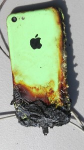 cellphone fire: batteries are the problem, not the devices