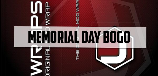 Jwraps Memorial Day BOGO